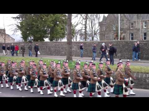 7 Scots Royal Regiment of Scotland Marching To Old Viewforth In Stirling Scotland March 10th