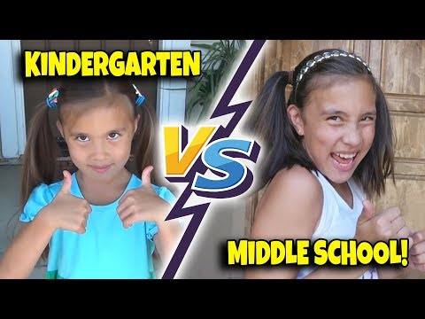 Download Video KINDERGARTEN VS. MIDDLE SCHOOL!!! First Day Of School Morning Routine!
