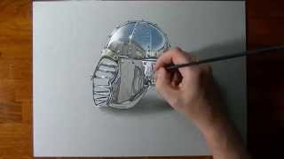 How to draw a chrome surface