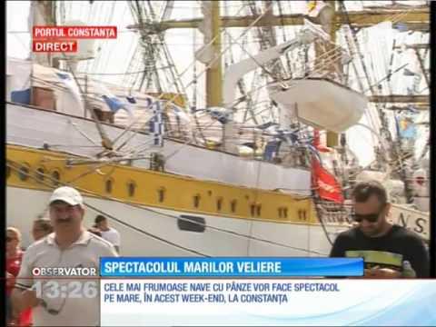 Cele mai frumoase nave cu pânze fac spectacol pe Marea Neagră, la Regata Marilor Veliere
