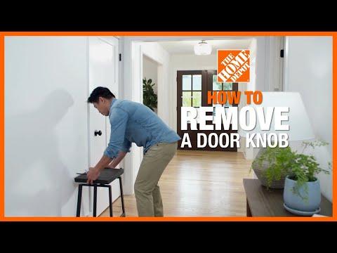 How to Remove a Door Knob