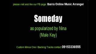 Someday (Male Key) - Nina - Karaoke