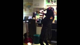 Nicola Practicing Her Instrument Changes