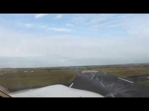 Take off from Wick Airport, Scotland…Robin Aiglon 180 hp