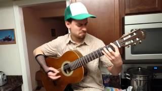 Cool Metallica Cover Enter Sadnman Acoustic 100% guitar hero