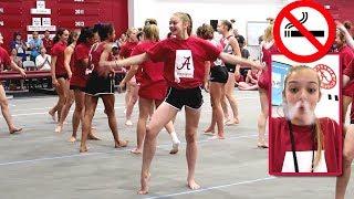 Alabama Gymnastics Camp | No Smoking | Whitney Bjerken