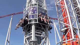 Hersheypark Triple Kisses Tower Off Ride Full Cycle POV 2017