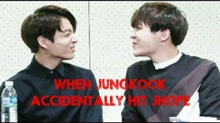 When BTS Jungkook Accidentally Hit JHope