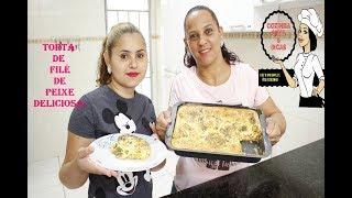 RECEITA DE COMO FAZER TORTA DE FILÉ DE PEIXE, SIMPLES FÁCIL E DELICIOSA