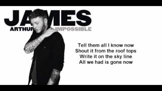James Arthur - Impossible (Official Lyrics Video) in 3d