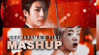 [MASHUP] MONSTA X & BTS :: Dramarama X Fire (ft. Trespass/Blood Sweat & Tears)