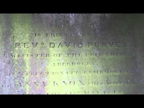 Reverend David Purves Gravestone Old Cemetery Aberdour Fife Scotland