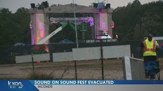 Weather causes evacuations at Sound on Sound Music Festival