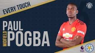 Paul Pogba | EVERY Touch v Leicester! | Manchester United 2-1 Leicester City width=