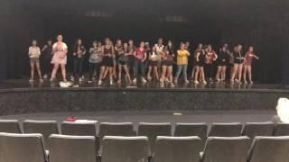 ETHS Mulan jr. Keep 'em Guessing rehearsal