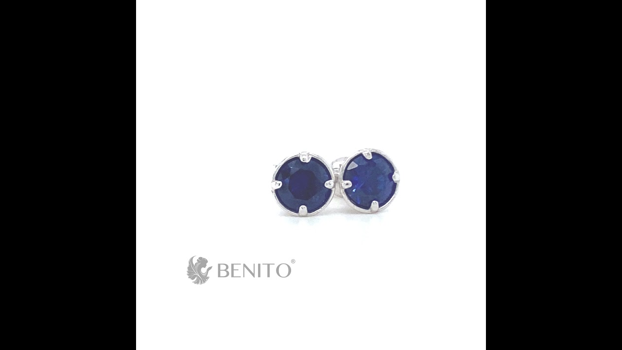 Emma Earrings Blue Spinel Stone