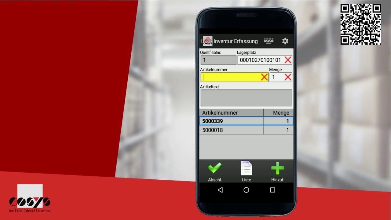 Lagerinventur problemlos mit dem Android machen | COSYS Warehouse Management Module