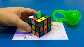 Stunning Klein Bottle Rubik's Cube Illusion: 4D, 3D, or 2D?