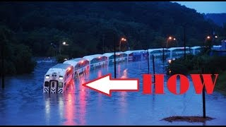 Most Extreme Train Travel On To The Water