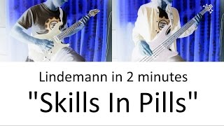 10) Lindemann - Skills In Pills (Guitar & Bass cover + TAB | Skills In Pills lesson HD)