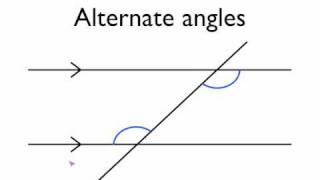 Angles in parallel lines- alternate angles