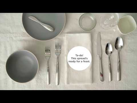 A video on how to set a table.