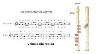 Flauta de Bisel (ou flauta doce) - As pombinhas da Catrina