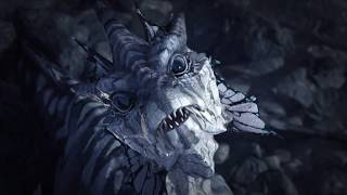 CGI 3D Dragon Wakes up Lost in a Desert Animation