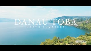 DANAU TOBA FROM ABOVE [aerial video]