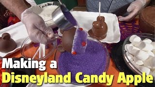 Making a Minnie Mouse Halloween Time Candy Apple | Disneyland Park