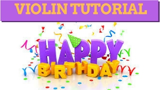 LEARN TO PLAY VIOLIN IN 2 MINUTES | HAPPY BIRTHDAY | EASIEST EVER TUTORIAL