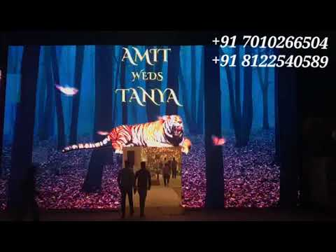 LED Video Wall Arch Gate Entry | Wedding Reception Event Decoration India +91 81225 40589 (WA)