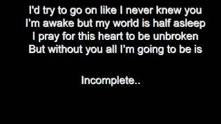 Incomplete lyrics Backstreet boys
