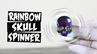 Rainbow Metal Skull Hand Spinner Fidget Toy
