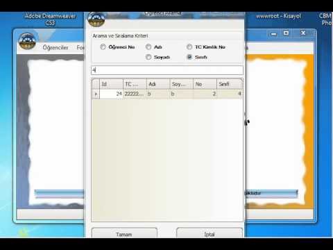 VTZ Yazılım Rehberlik Takip Programı- ÖĞRENCİ ARAMA GÜNCELLEME 1