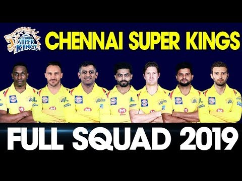 Download thumbnail for IPL 2019 Chennai Super Kings Team Squad   Csk