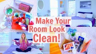 How To Make Your Room Look CLUTTER FREE!
