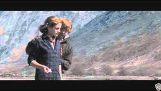 Rupert Grint in deleted scene with Emma Watson