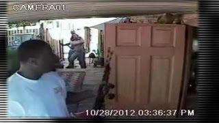 Violent Home Invasion Caught on Video: Police Hunt Two Suspects