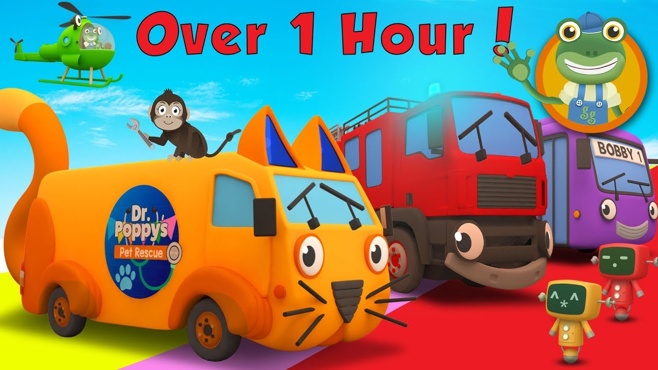 Andy The Animal Ambulance and More Trucks for Kids