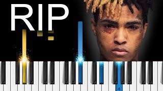 XXXTentacion - Moonlight - EASY Piano Tutorial