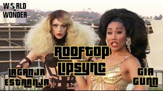 "Gia Gunn & Laganja Estranja lipsync to ""Bring out the Gunnz"" - Rooftop Lipsync"