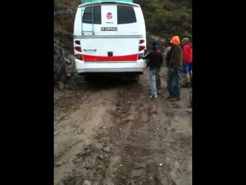 Nepal bus stuck langtang