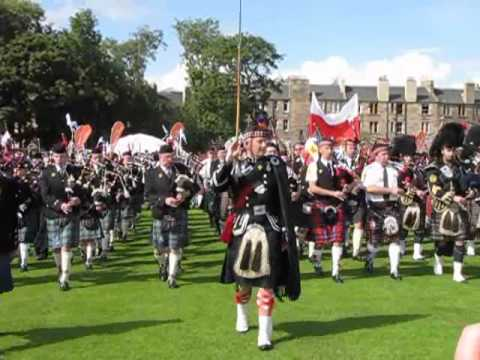 Massed Pipes and Drums at Pipefest 2010 in Edinburgh