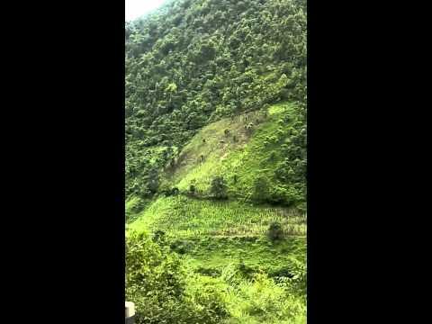 Nepal through the window of bus