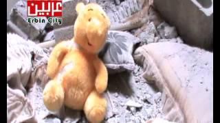 دمار في غرف نوم الأطفال في عربين