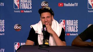 Klay Thompson Draymond Green & Andre Iguodala Postgame Interview | NBA Finals Game 4 width=
