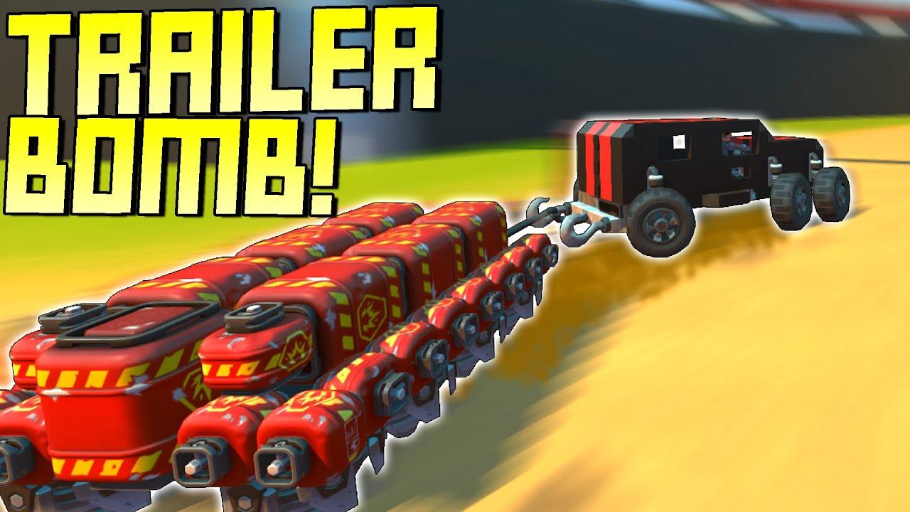 ScrapMan - Drifty Explosive Trailer Dragging Battle Race on Figure Eight! - Scrap Mechanic Multiplayer Monday