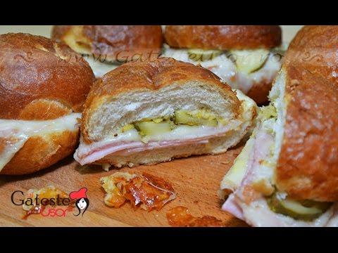 Reteta de Sandwich la cuptor cu Sunca si Cascaval