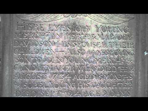 John Young Gravestone Greyfriars Graveyard Perth Scotland